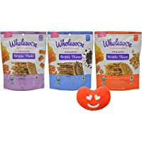 Wholesome Organic Brittle Thins 3 Flavor Variety, 3.5 Ounce Resealable Bags with Jelly Belly Mini