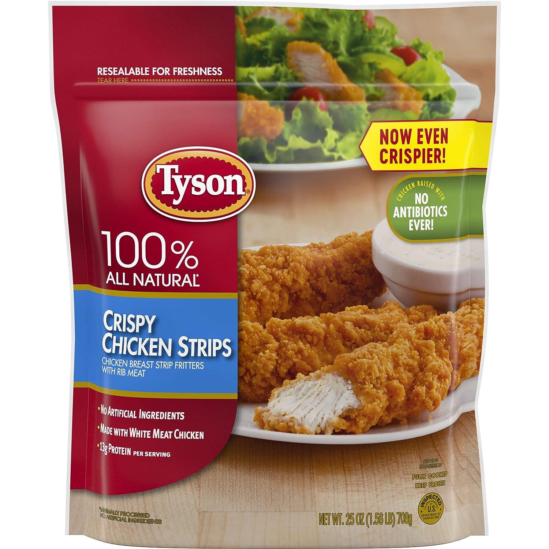 Tyson Fully Cooked Crispy Chicken Strips, 25 oz. (Frozen)