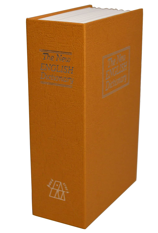 Cassaforte segreta a libro /'The New English Dictionary/' con due chiavi incluse marrone Safehaus