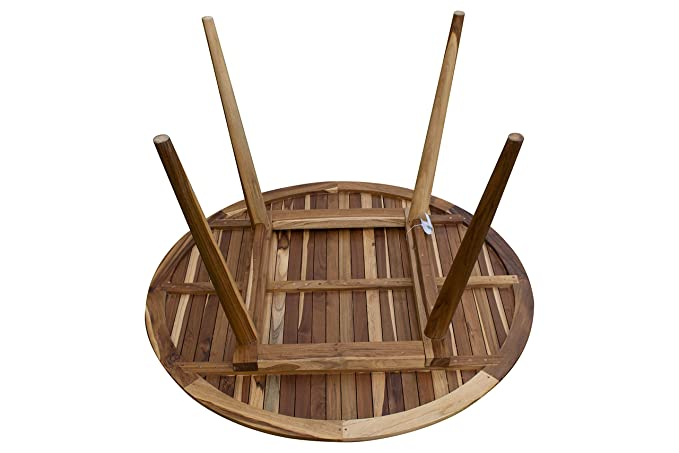 Amazon.com: EcoDecors - Mesa de comedor moderna redonda de ...