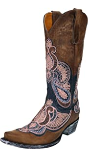 0795553a1ff Amazon.com | Old Gringo Women's Blue Dolly Mayra Tall Boot Snip Toe ...