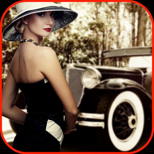 Vintage Wallpaper (Diner Old Cars)