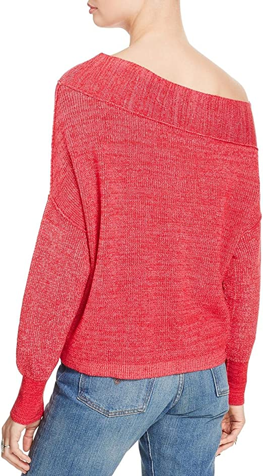 X-Small Free People Womens Alana Pullover Knit Sweater Pink