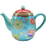 Certified International Tunisian Sunset Teapot, 40 Ounces
