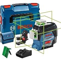 Bosch Professional 12V System linjelaser GLL 3-80 CG (1x batteri 12 V, grön laser, inomhus, med appfunktion, fäste…