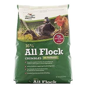Manna Pro 1000851 KZBCI_667854_1PK_6.67_5CS All Flock with Probiotics Crumble, 8 lb, Original Version