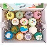 Ylass 12 Bath Bombs - Gift Set Ideas - Chamomile, Rose, Rosemary, Lavender, Strawberry, Milk, Apple, Orange, Lemon - Add to Bath Bubbles, Basket, Bath Beads - Bath Pearls