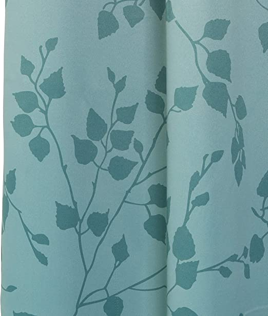 Mysky Home - Moderna cortina opaca con aislante térmico, diseño con impresión de ramas, con ojal en la parte superior: Amazon.es: Hogar