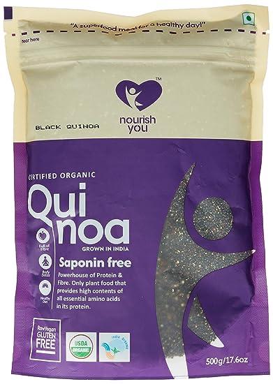 Nourish You Organic Black Quinoa, 500g