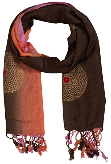 b60523806c462 Image Unavailable. Image not available for. Color: PSS Premium Quality Hand  Crafted Multi-Color All Season Designer Party Scarf Stoles for women