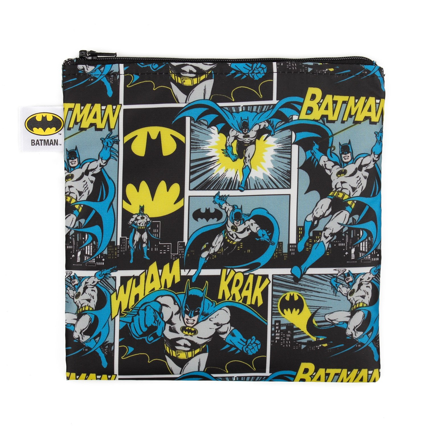Bumkins DC Comics Reusable Snack Bag Large, Batman