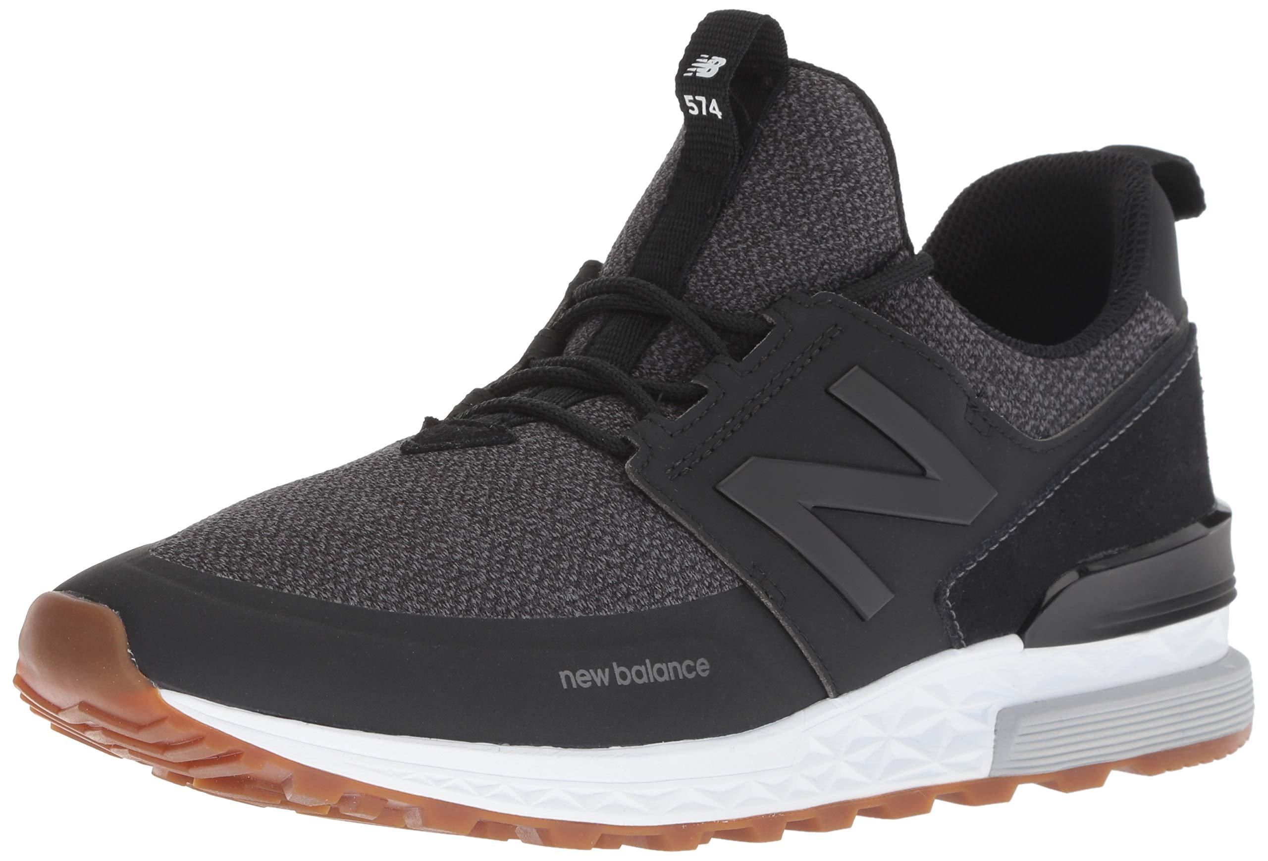 low priced 1f647 93633 New Balance Men's 574S Sport Sneaker, Black/Magnet, 14 D US