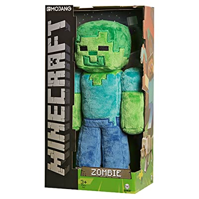 "JINX Minecraft Zombie Plush Stuffed Toy, Multi-Colored, 12"" Tall, with Display Box: Toys & Games"
