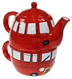 Routemaster Red Bus Tea For One Set