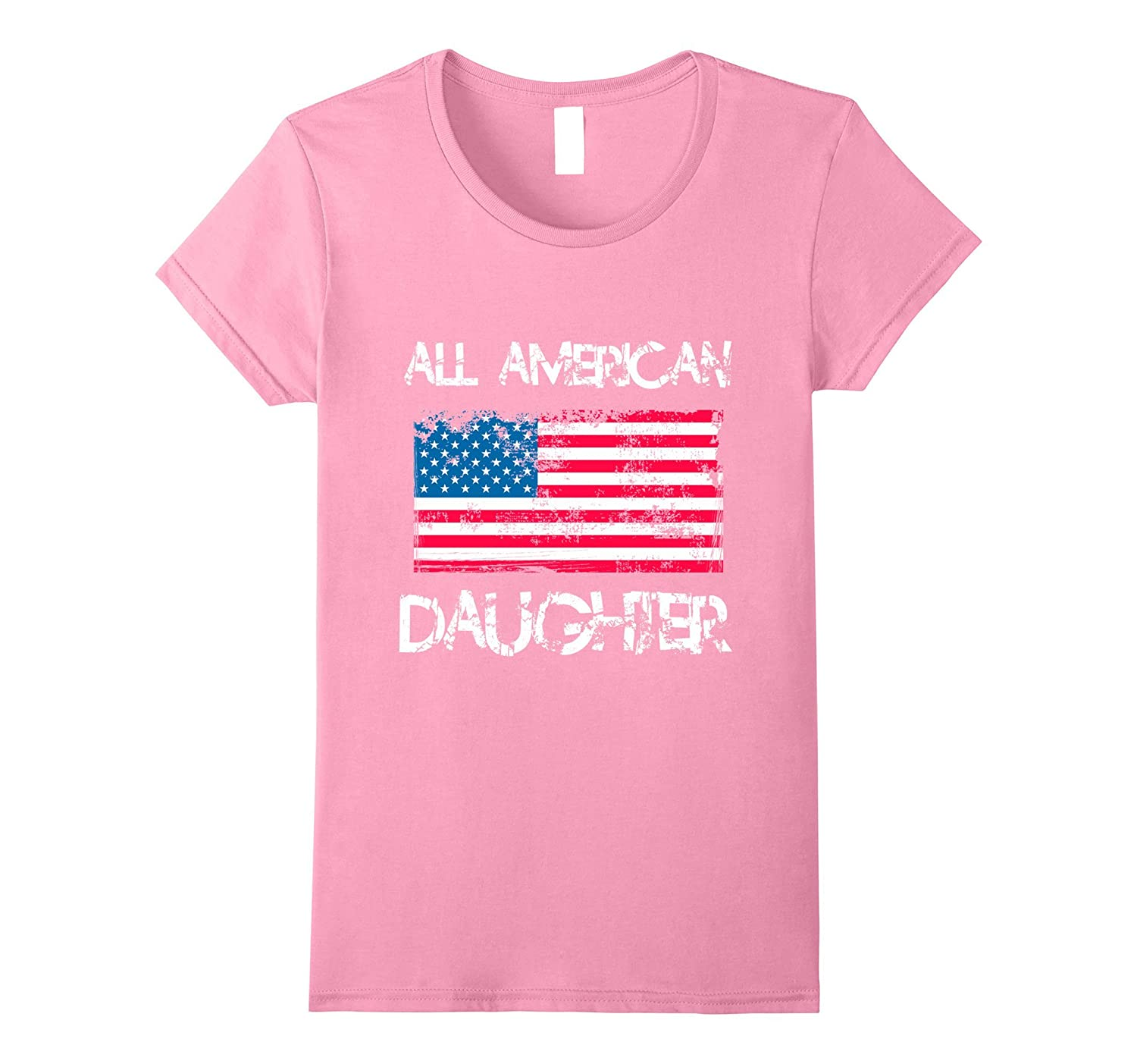 All American Daughter T Shirt 4th of July Women