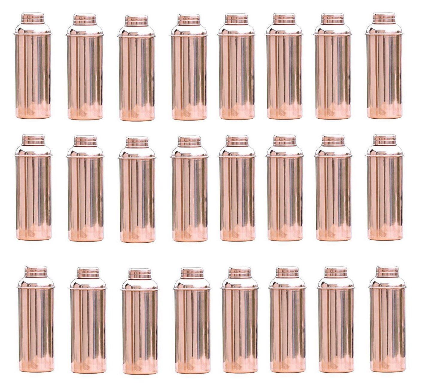 50 PC Ayurvedic Health Benefits Water Storage Flask Traditional Copper Bottle