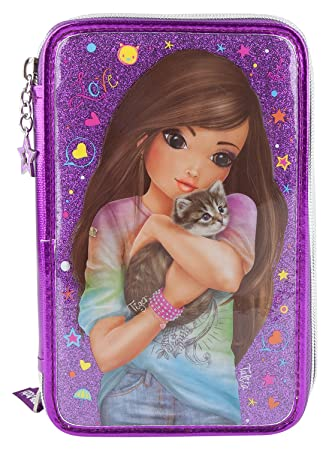pink Top Model 6614 3-fach Federtasche Friends