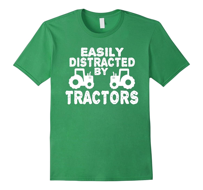 Easily Distracted Tractors Tractor T Shirt-Awarplus