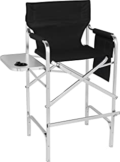 Trademark Innovations 45  Aluminum Frame Tall Metal Directoru0027s Chair Side Table ...  sc 1 st  Amazon.com & Amazon.com : Professional EZ Travel Collection Deluxe Tall Folding ...