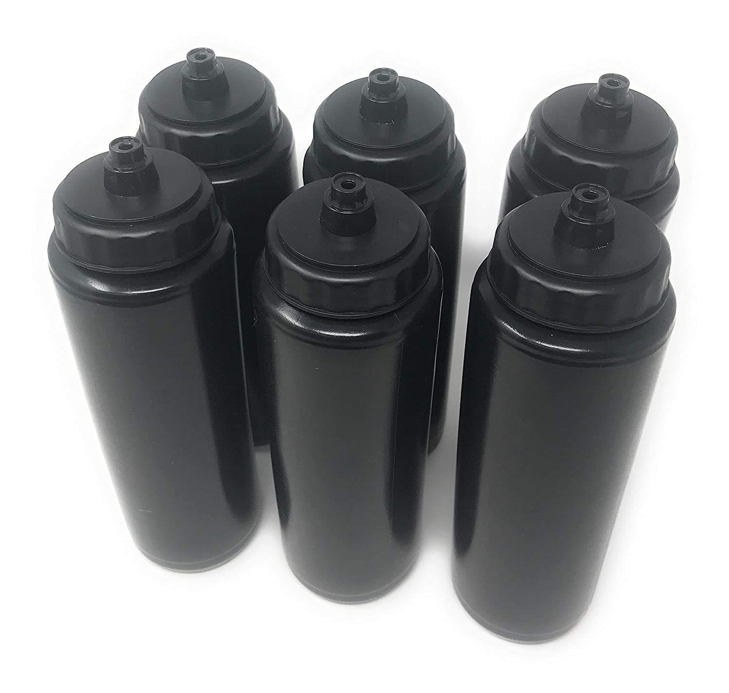 Hockey Softball Volleyball Volleyball Football Soccer Sea View Treasures 6 x 24oz Plastic Sports Squeeze Water Bottle SVT Black Baseball