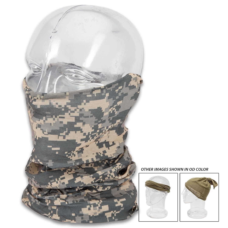 Combat Scarf Versatile Headgear Cap Headwrap Face Mask Headband ACU Digital Camo Mil-Tec
