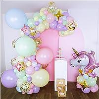 16-Foot DIY Pastel Unicorn Balloon Garland and Arch Kit, with Giant Unicorn, Stars, Confetti. Unicorn Birthday…