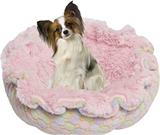 product image for BESSIE AND BARNIE Ultra Plush Bubble Gum/Ice Cream Luxury Shag Deluxe Dog/Pet Cuddle Pod Bed