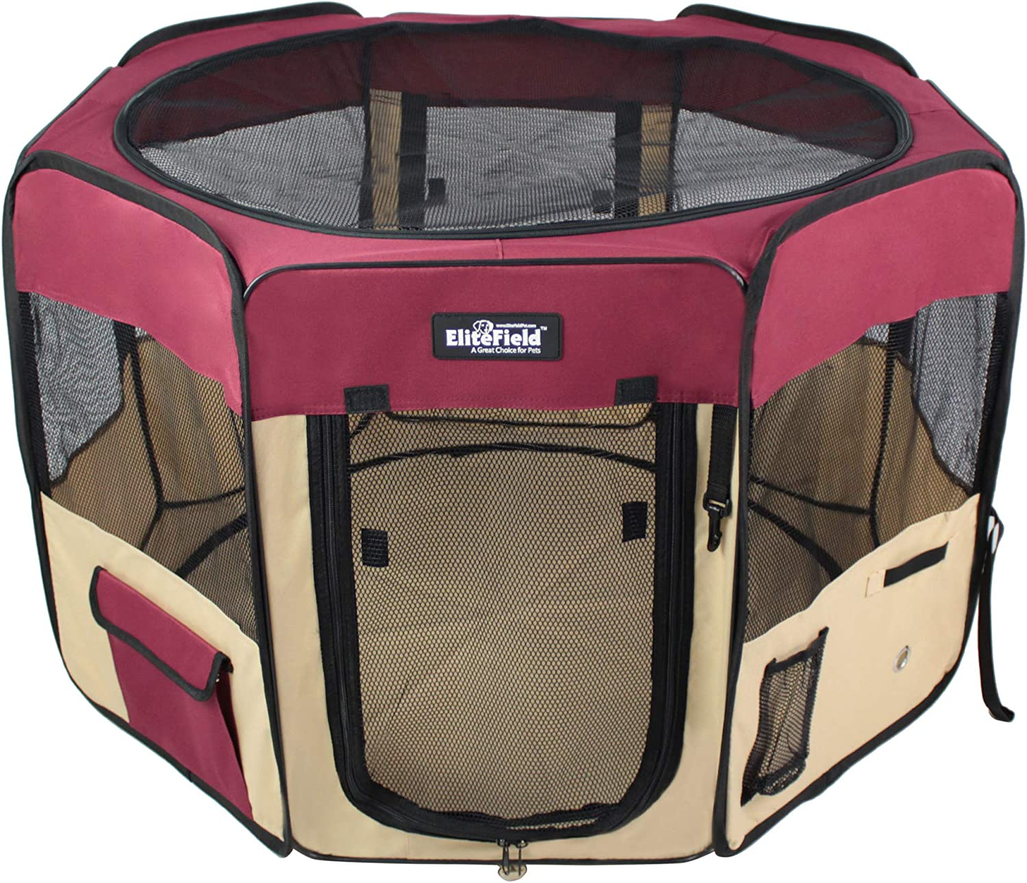 EliteField 2-Door Soft Pet Playpen (2 Year Warranty), Exercise Pen, Multiple Sizes and Colors Available for Dogs, Cats and Other Pets