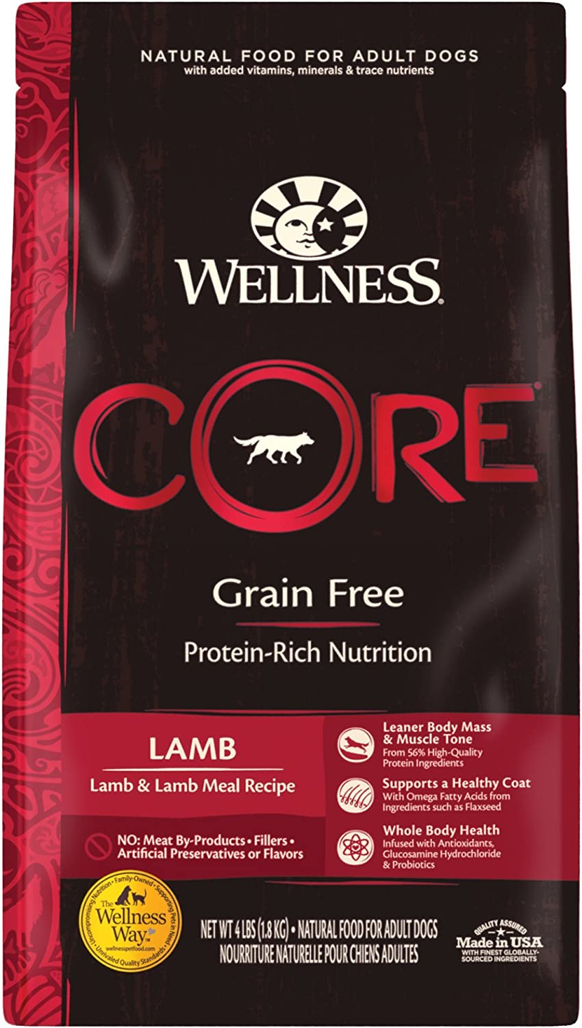 5. Wellness CORE Grain-Free Lamb Recipe Dry Dog