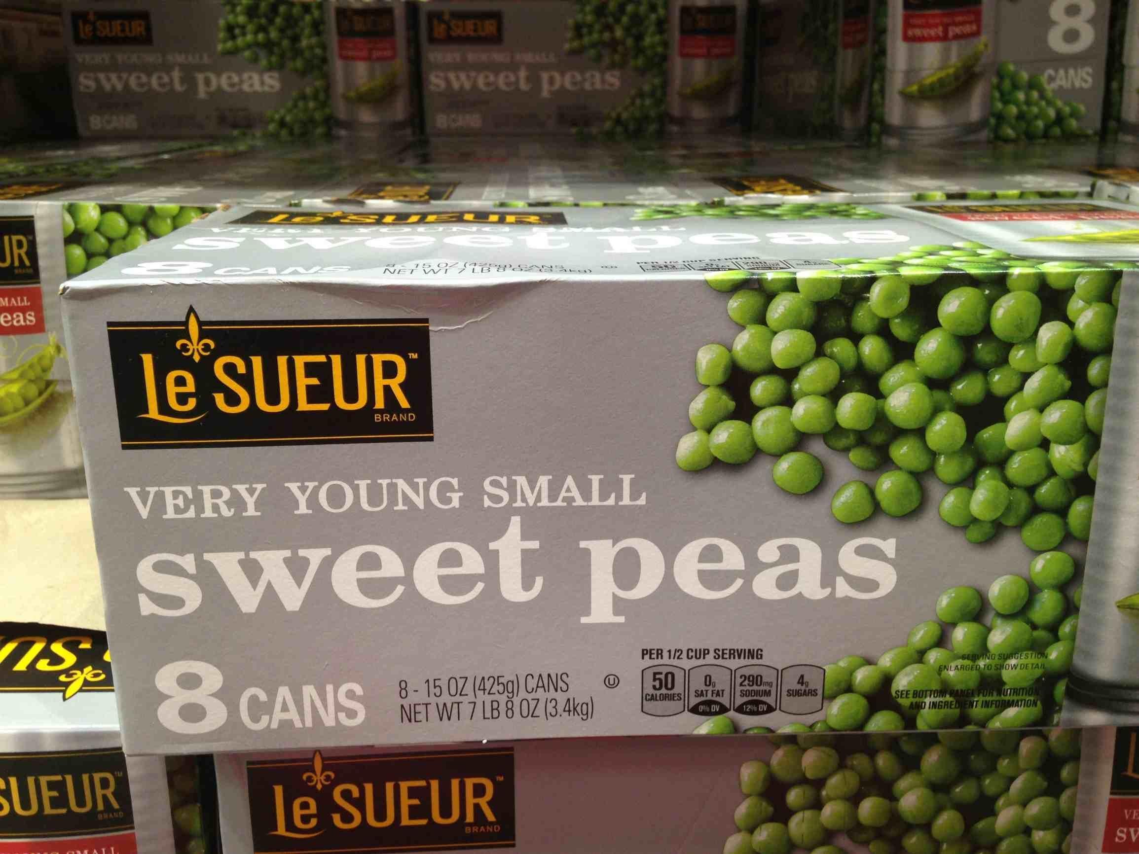 Le sueur sweet peas 8/15 oz (pack of 6)