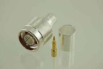 w5swl marca Premium Serie N macho conector para radio de plata Crimp RF tipo de baja