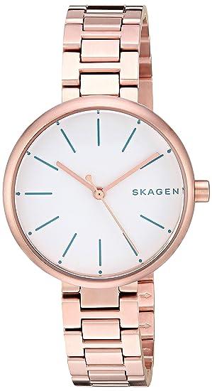Skagen SKW2619 Hald tres mano Gold de las mujeres Plated Reloj Un tamaño Oro de Rose