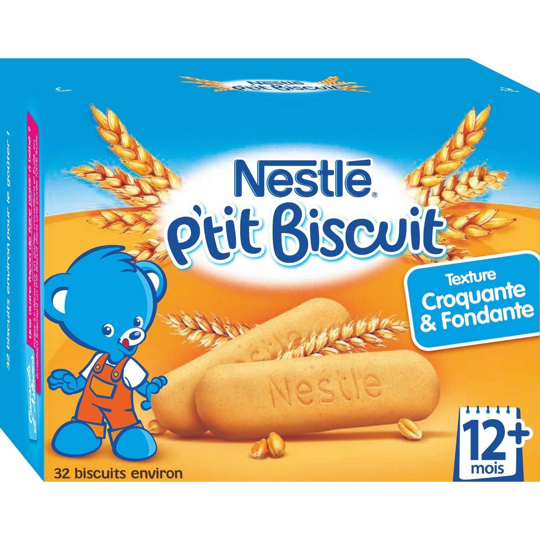 Nestlé Bébé P'tit Biscuit - Biscuit dès 12 mois - Boîte de 180g - Lot de 6 7613032458737