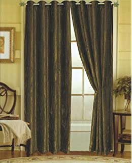 Editex Home Textiles Susane Crushed Velvet Curtain Panel With Grommet,  Forest, Set Of 2