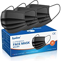 4 Layer Face Mask Disposable Medical Grade Masks(50PCS), Breathable Safety Mask with Nose Wire for Glasses Wearers Mouth…
