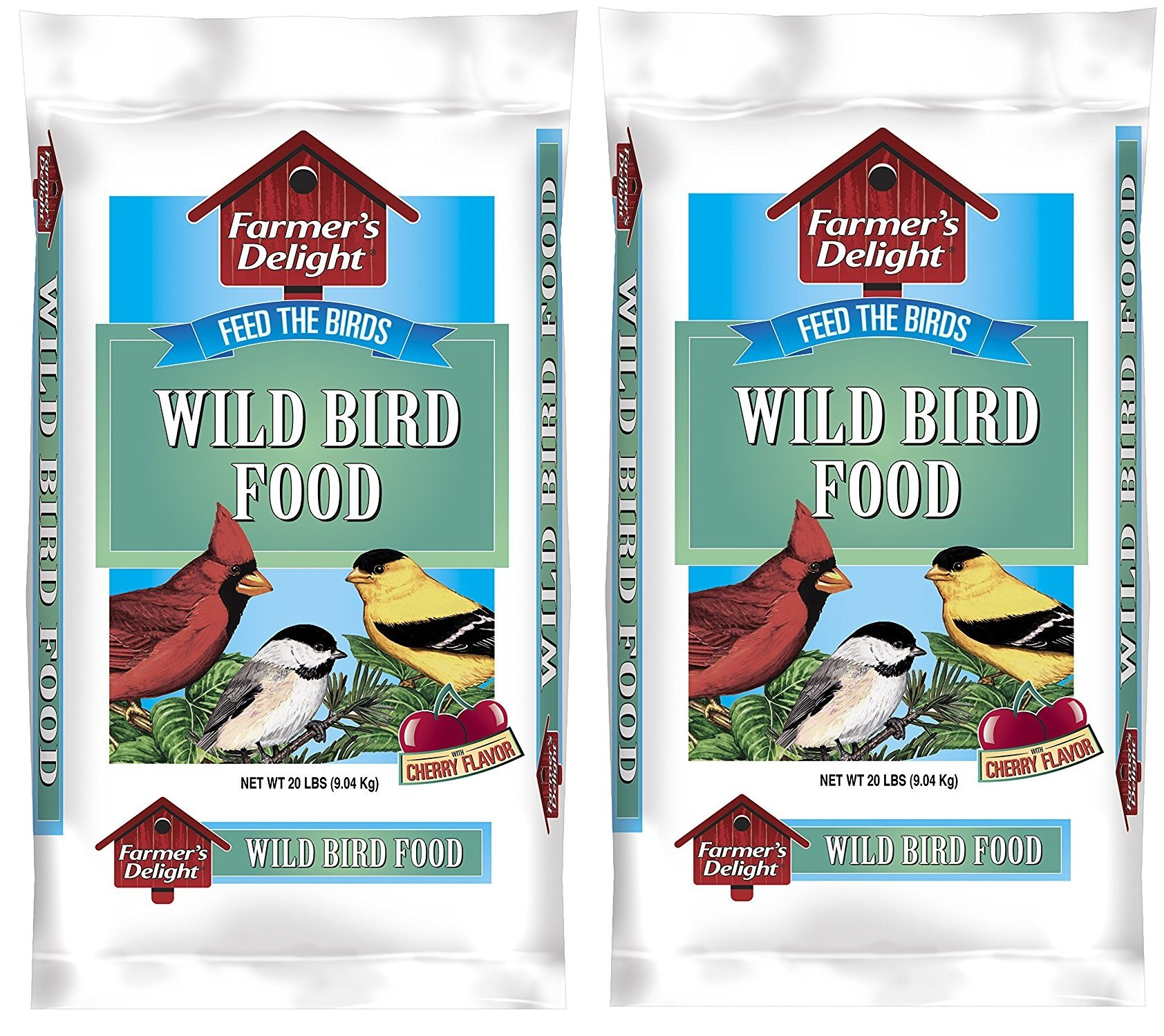 Wagners 53002 Farmers Delight Wild Bird Food, With Cherry Flavor, 20-Pound Bag, eIeaNs 2Pack (20-Pound Bag)