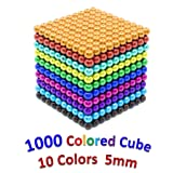 sunsoy 1000 Pieces Magnetic Blocks, Magnetic Cube