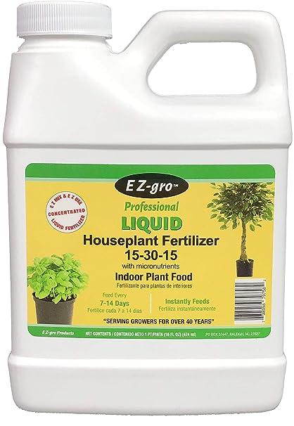 Amazon com : Indoor Plant Food by E Z-GRO 15-30-15 | Liquid Plant
