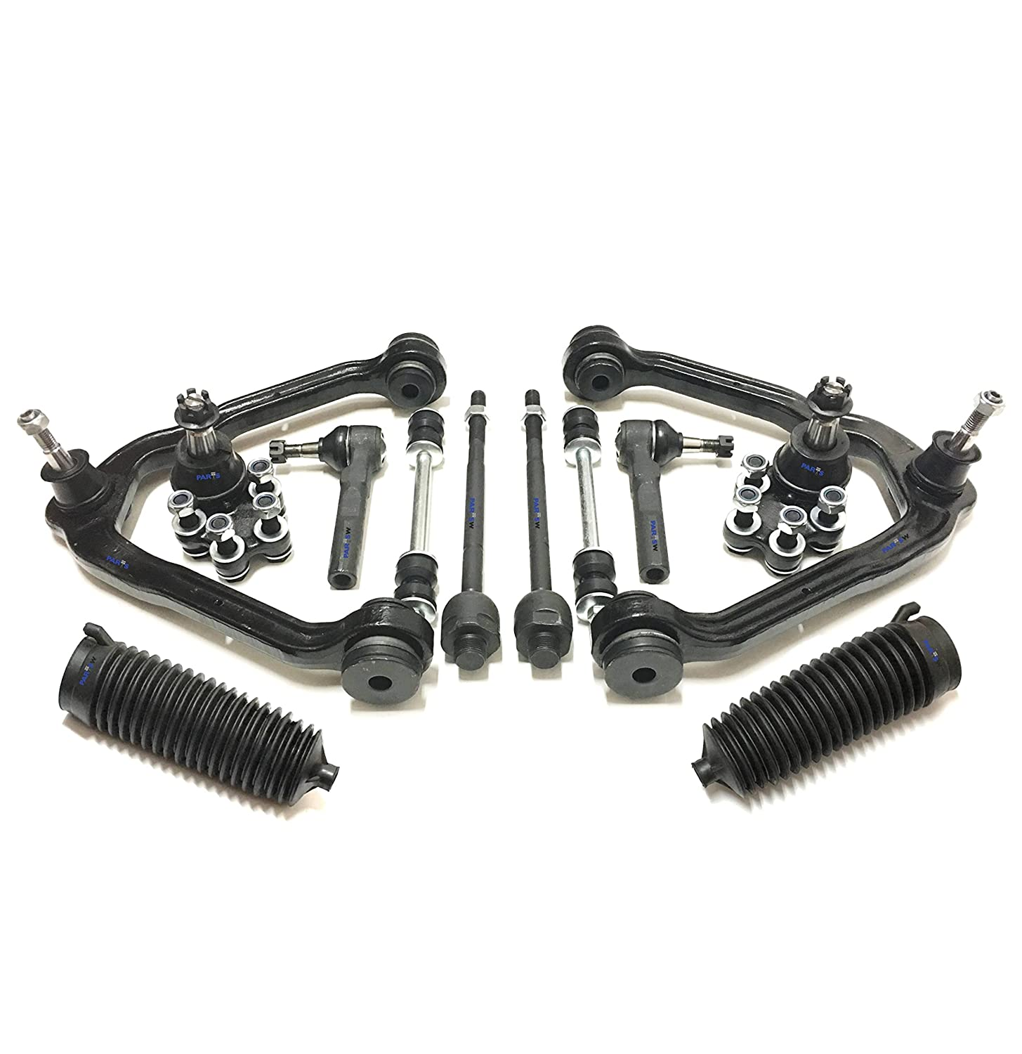 PartsW 6 Pc Front Upper Control Arm Ball Joints Sway Bars Suspension Kit for CHEVROLET SILVERADO 1500 GMC SIERRA 1500 6-LUG MODELS ONLY Control Arms Control Arms & Parts