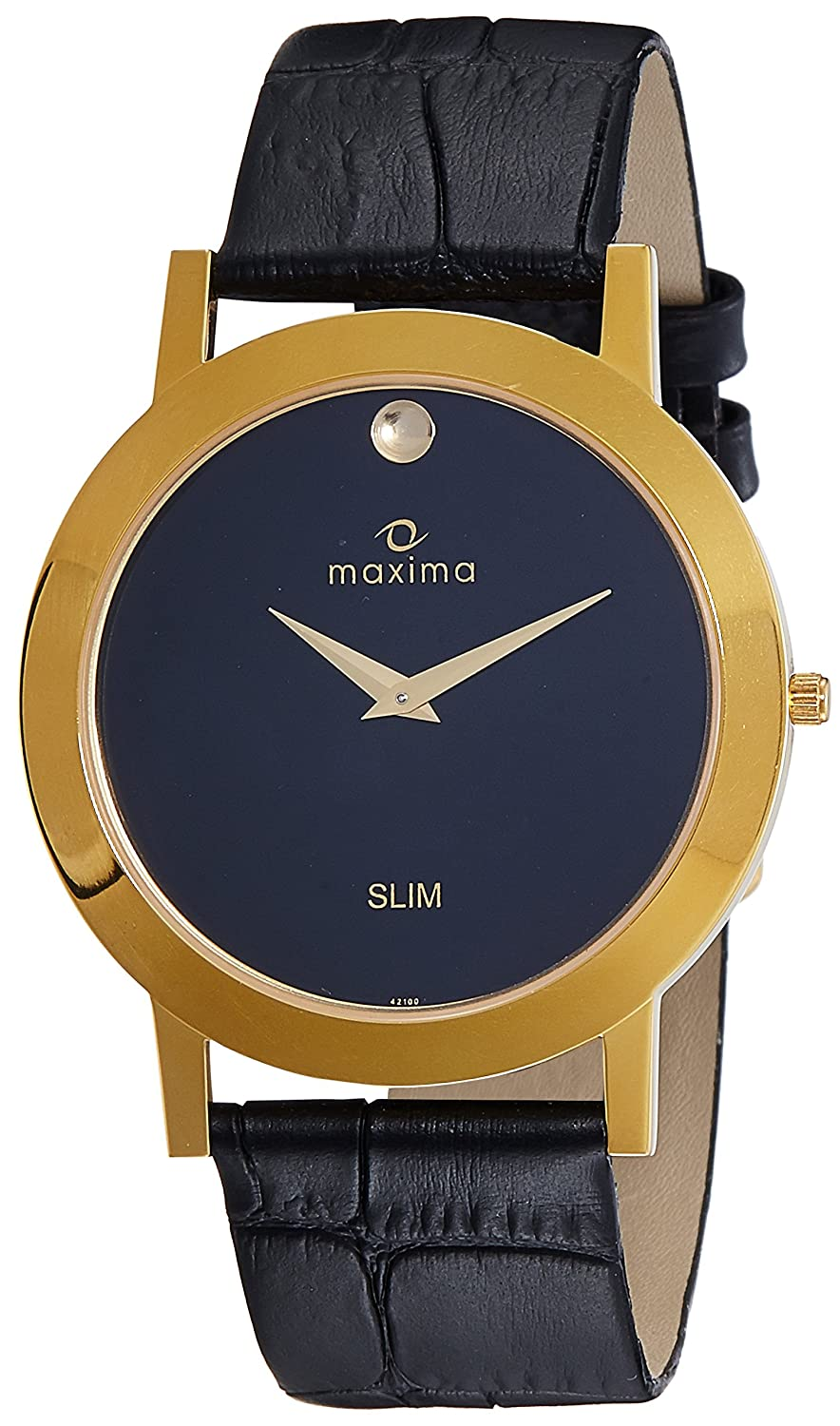 86d1ccf2f Buy Maxima Analog Black Dial Men s Watch - 42100LMGY Online at Low Prices  in India - Amazon.in
