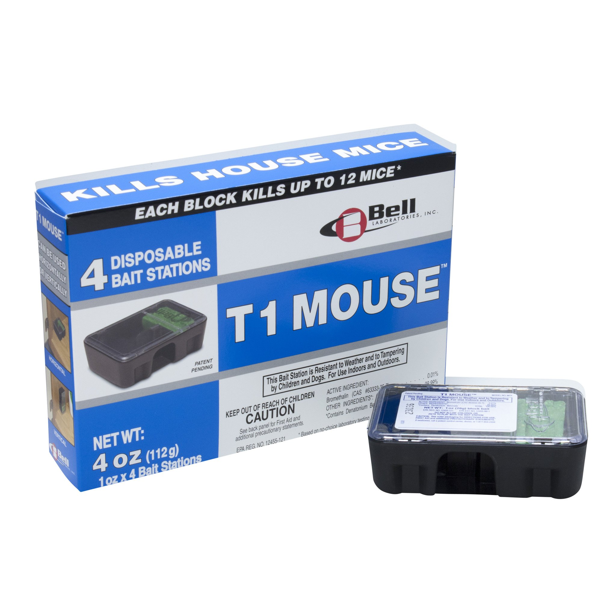 T1 Mouse Disposable Mouse Bait Stations - CASE 12 STATIONS