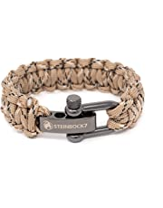 Steinbock7 Paracord Survival Armband, Edelstahl Verschluss Einstellbar, Inklusive Anleitung zum Flechten…