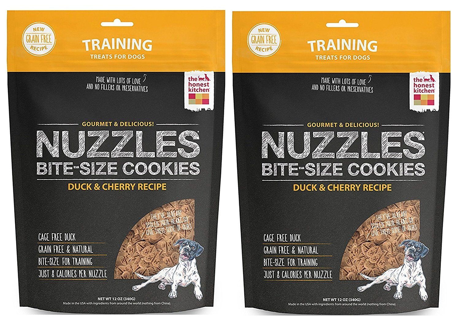 The Honest Kitchen Nuzzles Natural Grain-Free Dog Training Treat Cookies, 24 ounces