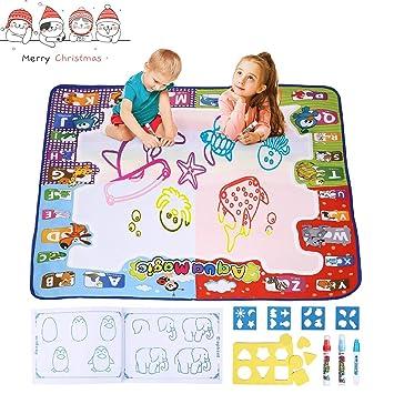 3 Magic Stifte für Kinder Wasser Doodle Matte 78x78cm Wasser Zeichnen Malmatte