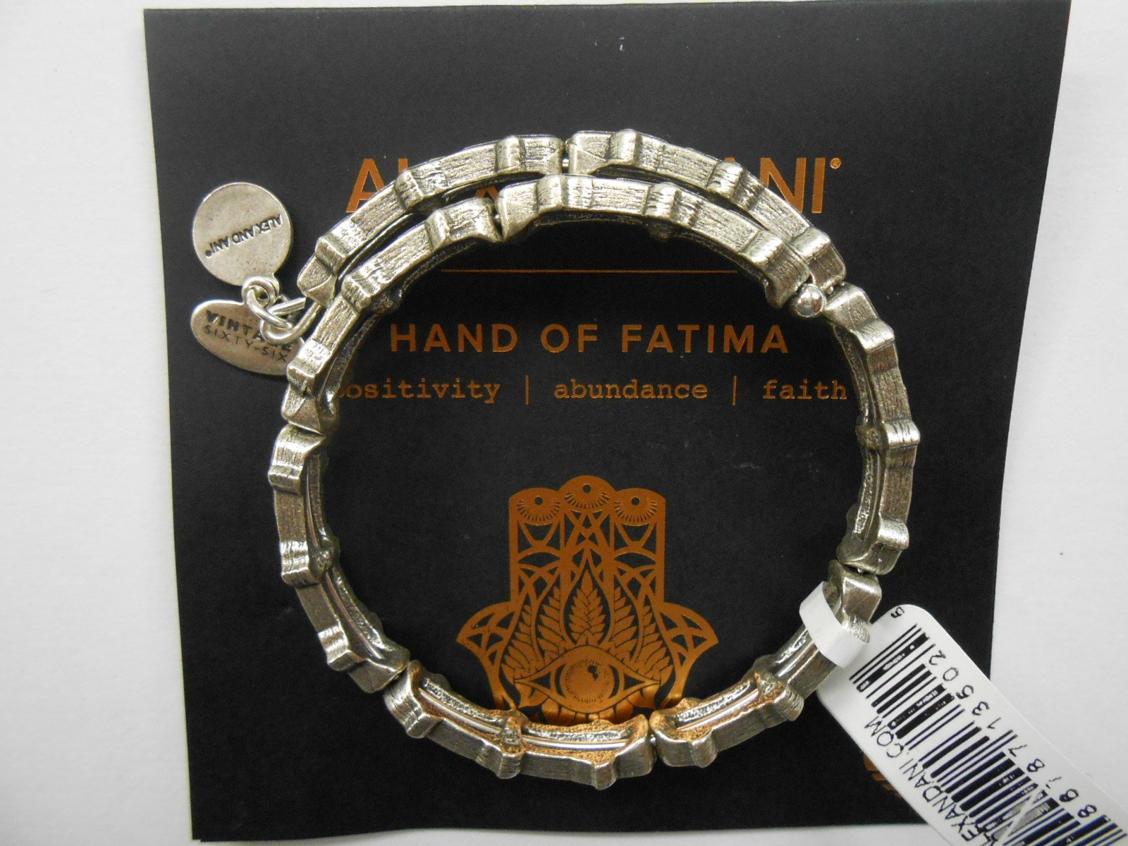 Alex and Ani Hand of Fatima Rafaelian Silver Wrap Bracelet