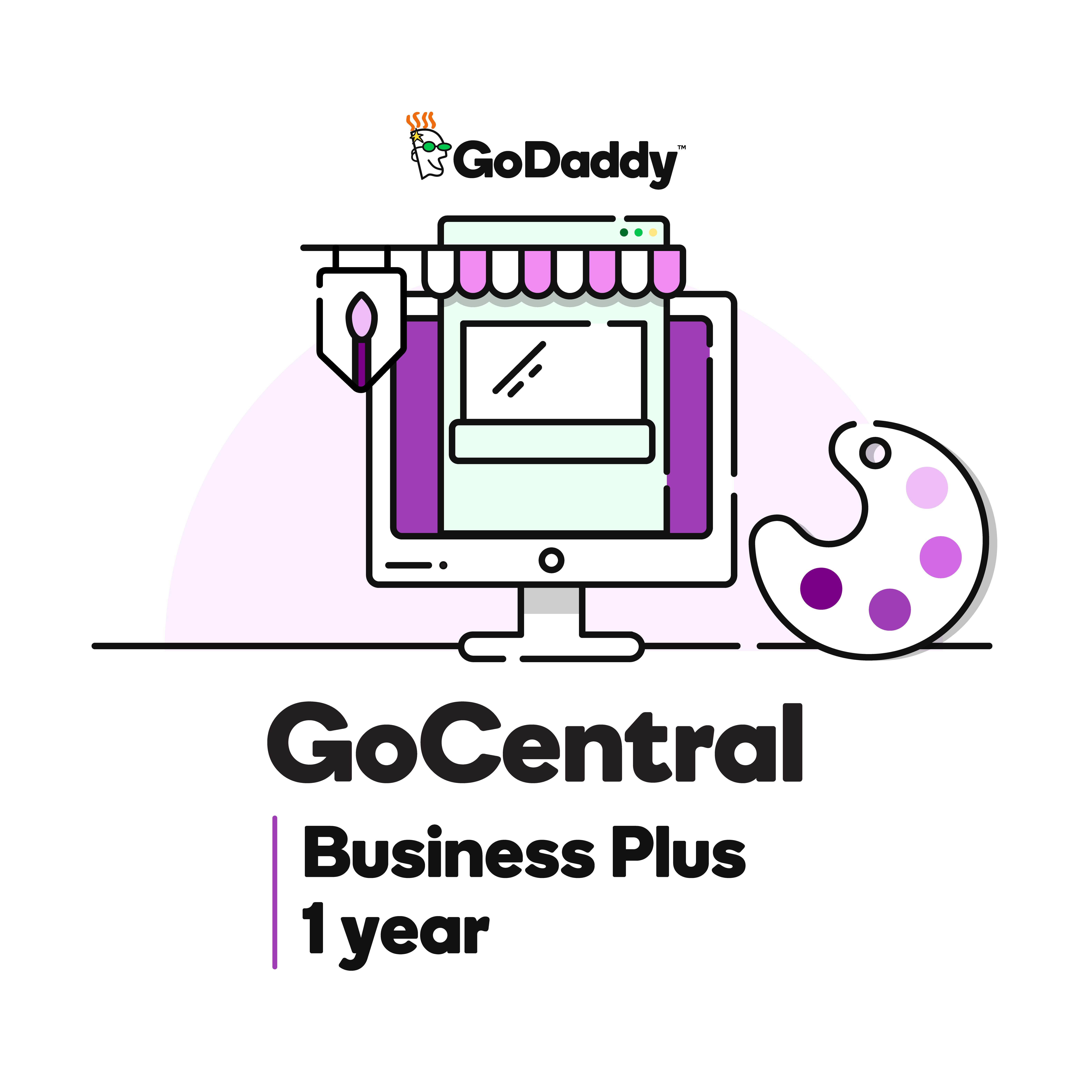 Software : GoCentral Website Builder- Business Plus Plan (1 year)