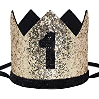 Best Sellers in Kids  Party Hats.  1. Maticr Glitter Baby Boy First Birthday  Crown Number 1 Headband Little Prince Princess Cake Smash Photo 4389a2c37e14