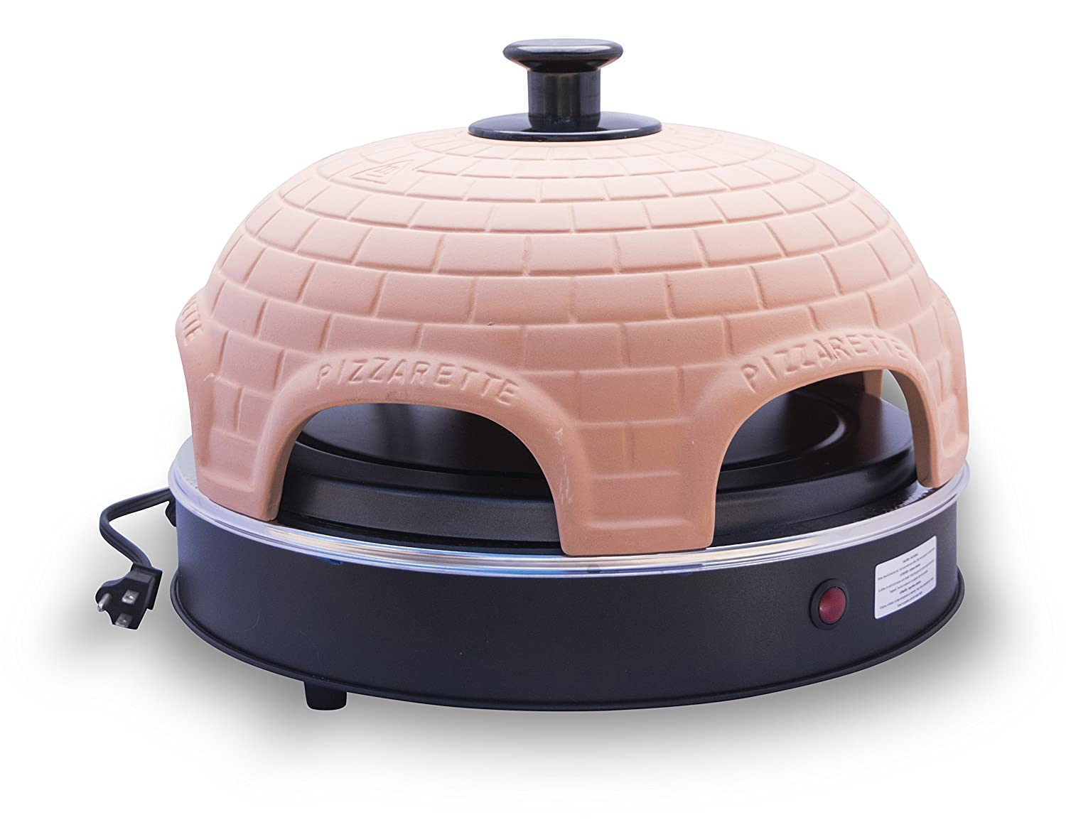 Pizzarette The World s Funnest Pizza Oven 6 Person Model – Countertop Pizza Oven Europe s Best-Selling Tabletop Mini Pizza Oven Now Available In The USA Dual Heating Elements