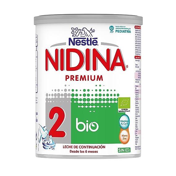 NESTLÉ NIDINA 2 BIO - Leche en polvo de continuación para bebés desde 6 meses,