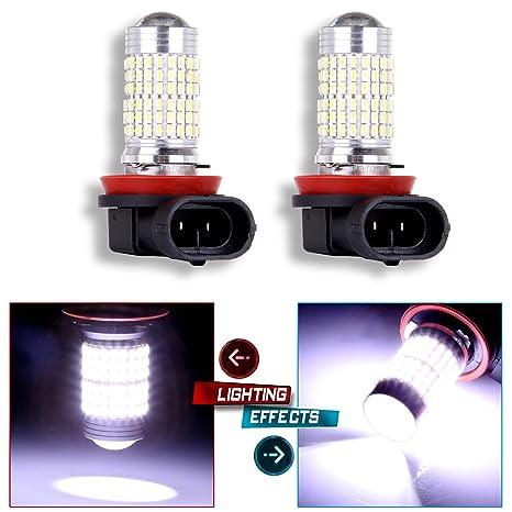 cciyu 2 x Super brillante HID blanco 6000 K H11 144smd DRL luz de niebla/